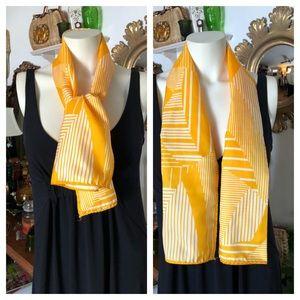 Vintage Long Yellow & White SCARF